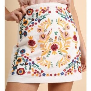 Dresses & Skirts - Embroidered Mini Skirt